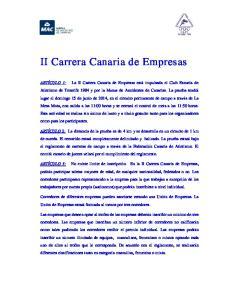 II Carrera Canaria de Empresas