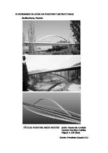 II CONGRESO DE ACHE DE PUENTES Y ESTRUCTURAS Realizaciones, Puentes
