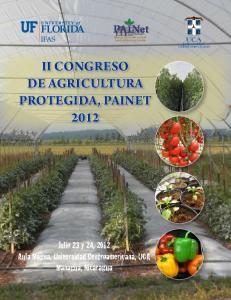 II CONGRESO DE AGRICULTURA PROTEGIDA, PAINET 2012