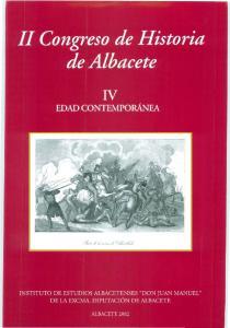 II CONGRESO DE HISTORIA DE ALBACETE
