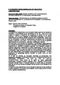 II CONGRESO IBEROAMERICANO DE DIDACTICA UNIVERSITARIA