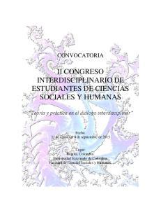 II CONGRESO INTERDISCIPLINARIO DE ESTUDIANTES DE CIENCIAS SOCIALES Y HUMANAS