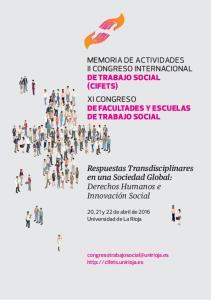 II CONGRESO INTERNACIONAL DE TRABAJO SOCIAL (CIFETS) XI CONGRESO DE FACULTADES Y ESCUELAS DE TRABAJO SOCIAL