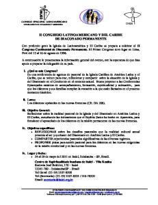 II CONGRESO LATINOAMERICANO Y DEL CARIBE DE DIACONADO PERMANENTE