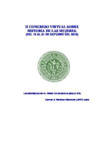 II CONGRESO VIRTUAL SOBRE HISTORIA DE LAS MUJERES. (DEL 15 AL 31 DE OCTUBRE DEL 2010)