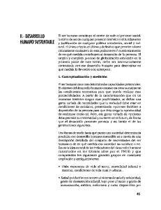II.- DESARROLLO HUMANO SUSTENTABLE
