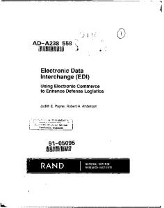 II. Electronic Data. Interchange (EDI) AD-A