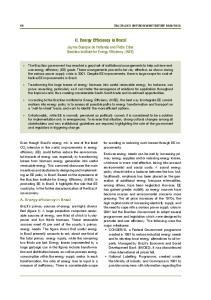 II. Energy Efficiency in Brazil