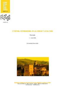 II FESTIVAL INTERNACIONAL DE LA LENGUA Y LA CULTURA. Granada