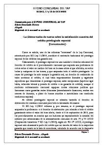 II FORO CONCURSAL DEL TAP BILBAO, 17 y 18 de DICIEMBRE