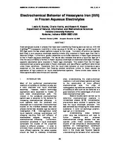 II) in Frozen Aqueous Electrolytes