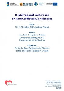 II International Conference on Rare Cardiovascular Diseases