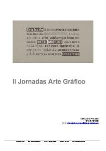 II Jornadas Arte Gráfico