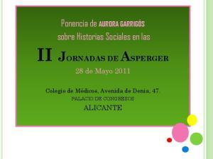 II JORNADAS DE ASPERGER