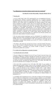 II. La validez de las obligaciones en moneda extranjera