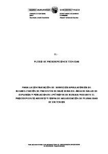 II.- PLIEGO DE PRESCRIPCIONES TECNICAS