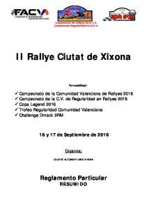 II Rallye Ciutat de Xixona