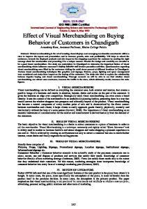 II. ROLE OF VISUAL MERCHANDISING
