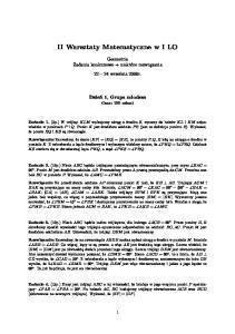 II Warsztaty Matematyczne w I LO
