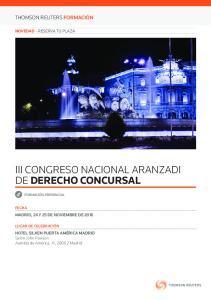 III CONGRESO NACIONAL ARANZADI DE DERECHO CONCURSAL
