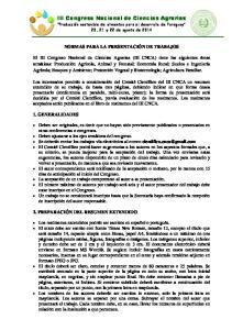 III Congreso Nacional de Ciencias Agrarias