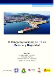 III Congreso Nacional de i+d en Defensa y Seguridad