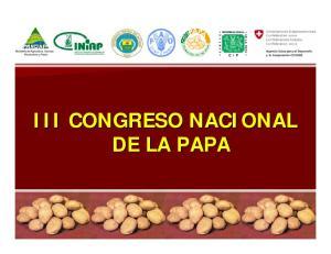 III CONGRESO NACIONAL DE LA PAPA