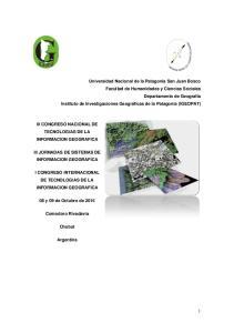 III CONGRESO NACIONAL DE TECNOLOGIAS DE LA INFORMACION GEOGRAFICA III JORNADAS DE SISTEMAS DE INFORMACION GEOGRAFICA