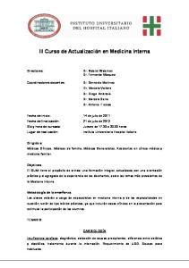 III Curso de Actualización en Medicina Interna