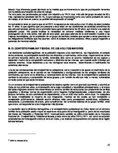 III. EL CONTEXTO FAMILIAR Y SOCIAL DE LOS ADULTOS MAYORES
