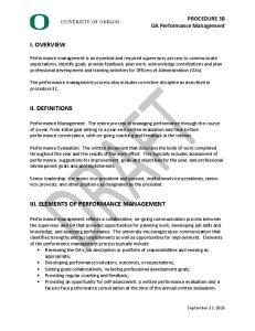 III. ELEMENTS OF PERFORMANCE MANAGEMENT