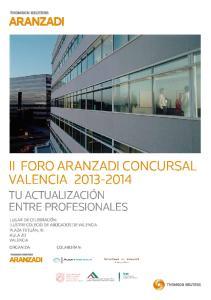III FORO ARANZADI CONCURSAL VALENCIA