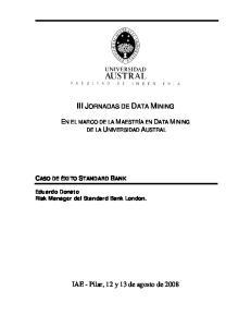 III JORNADAS DE DATA MINING