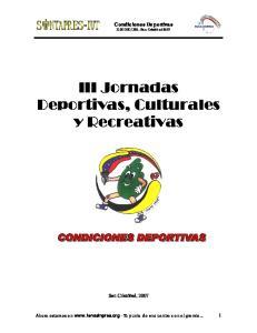 III Jornadas Deportivas, Culturales y Recreativas