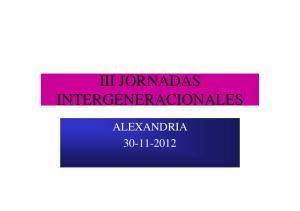 III JORNADAS INTERGENERACIONALES ALEXANDRIA