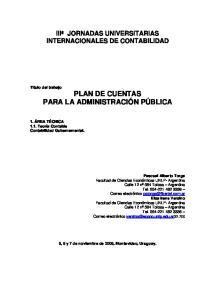 IIIª JORNADAS UNIVERSITARIAS INTERNACIONALES DE CONTABILIDAD