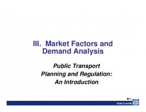 III. Market Factors and Demand Analysis