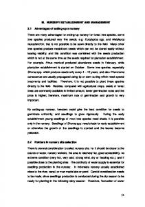 III. NURSERY ESTABLISHMENT AND MANAGEMENT