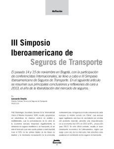 III Simposio Iberoamericano de Seguros de Transporte
