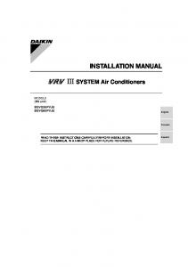 III SYSTEM Air Conditioners