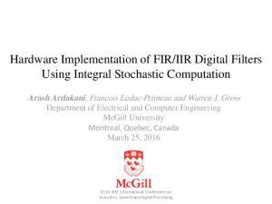 IIR Digital Filters Using Integral Stochastic Computation