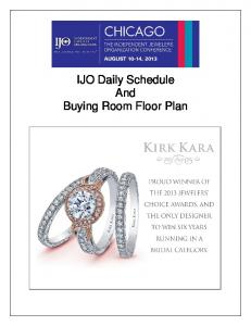 IJO Daily Schedule And Buying Room Floor Plan