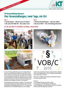 IKT-AbwasserThemenKarussell Vier Veranstaltungen, zwei Tage, ein Ort