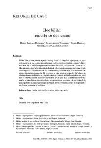 Íleo biliar: reporte de dos casos