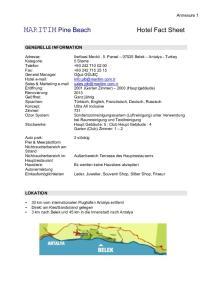 Ileribasi Mevkii, 5. Parsel Belek Antalya - Turkey