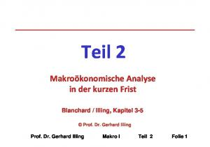 Illing, Kapitel 3-5. Prof. Dr. Gerhard Illing