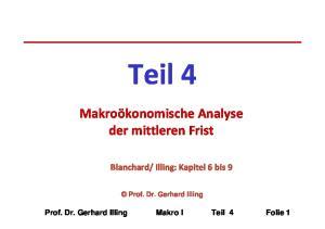Illing: Kapitel 6 bis 9. Prof. Dr. Gerhard Illing