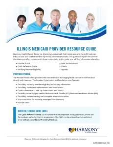 ILLINOIS MEDICAID PROVIDER RESOURCE GUIDE