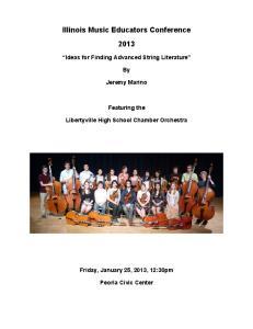 Illinois Music Educators Conference 2013