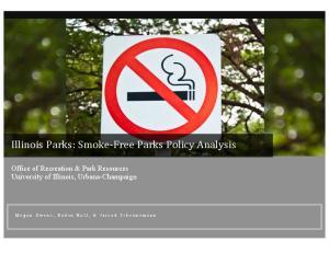 Illinois Parks: Smoke Parks Policy Analysis
